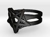 Pentagram Ring 3d printed