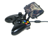 Xbox 360 controller & Lava P7+ 3d printed Side View - A Samsung Galaxy S3 and a black Xbox 360 controller