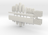 SET 4x Garden fencing (N 1:160) 3d printed