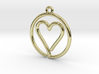 Heart Card Game continuous line Pendant 3d printed