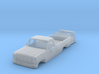 1/87 1980's Ford Truck with Interior 3d printed
