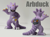 Pokefusion - Arbduck 3d printed Full Color Sandstone Print