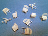1:48 Folding Chairs (Set of 10) 3d printed Set of 10 Chairs in FUD