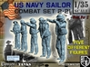 1-35 US Navy Sailors Combat SET 2-21 3d printed