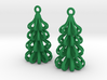 Tree - 3D Printed Earrings in Plastic 3d printed