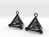 Pyramid triangle earrings serie 3 type 7 3d printed