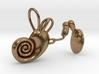 Human ear cochlea pendant 3d printed