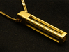 A Tritium Pendant 3d printed Pendant made of Polished Brass
