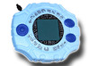 Digimon Digivice 3d printed Painted Prototype printed in White Strong & Flexible Polished