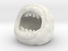Mutant Mouth Moon Golf Ball Creature 3d printed