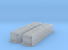 1/16 Buick Nailhead Weiand Valve Covers 3d printed