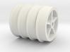 Tub Wheels Set 3d printed