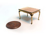 1:48 Queen Anne Dining Table 3d printed Printed in Brass