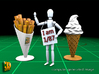 8 ICE & FRIES display stand (1:87) 3d printed ICE & FRIES display stands - size