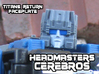 Cerebros, Headmasters Style (Titans Return) 3d printed Hand painted frosted ultra detail