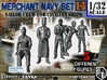 1-32 Merchant Navy Crew Set 1-5 3d printed