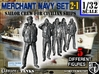 1-32 Merchant Navy Crew Set 2-1 3d printed