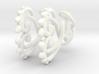 Curling Thorns Earrings 3d printed