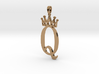 Queen Symbol Jewelry Pendant Necklace 3d printed