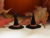 Witch's Hat Trim - Paired 3d printed Orange Strong & Flexible Polished Plastic Trim with Black Strong & Flexible Witch Hats