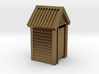 N Scale Wooden Outdoor Toilet Dunny 1:160 3d printed