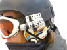 Camsports: mount for skigoggles 3d printed Unobtrusive cameraholder for your sportscam evo