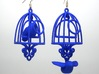 Bird in a Cage Earrings 04 3d printed