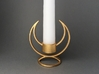 Candle Holder - 3D printed Candleholder 3d printed Solstice Candle Holder in Matte Gold Steel