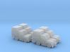 1:200 4x Volk HFZ30N Baggage Tractor 3d printed