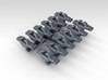 1/350 RN WW2 Cruiser Cleats x12 3d printed 3d Render showing detail