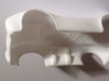HO Slot Car Shell - Fits Aurora AFX/AutoWorld 3d printed As printed before sanding & painting - showing body clip.