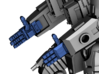 Ripwave Mecha Suit – Poseable Hands 3d printed Example of use (in blue)