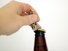 Skull Keychain Clip 3d printed Works as a bottle opener