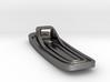 Art Deco-Inspired Bottle Opener 3d printed Bottom View (Polished Nickel Steel)