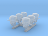 1/400 RN WW2 HACS MKIII Covered (6) 3d printed 1/400 RN WW2 HACS MKIII Covered (6)