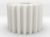 Cylindrical gear Mn=1 Z=19 AP20° Beta0° b=15 HoleØ 3d printed