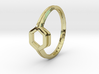Honey Duo, Ring US size 8, d=18,2mm  3d printed