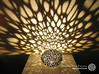 Voronoi Pearl Light Lamp No. 1 (10,4 cm) 3d printed Own 3D-print with black PLA.