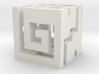 Nuva Cube Hollowed out 3d printed