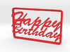 Gift Card Holder Happy Birthday 3d printed