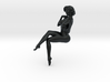 Girl with sofa 003 1/18 3d printed