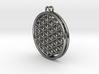 Flower Of Life Earrings 3d printed