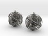 Ball Of Life Earrings 3d printed