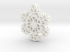 Blizzard Snowflake Earrings 3d printed