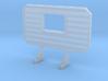 1/87 HO headache rack with window 3d printed