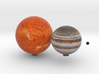 The known Proxima Centauri system 3d printed