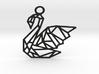 Swan Pendant 3d printed