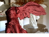 """Winged Victory (10"""" tall) 3d printed Winged Victory of Samothrace (computer rendering, shown in red for contrast)"""
