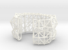 Faceted Cuff in Size Medium 3d printed