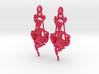 Victorian Swing Lady Earrings 3d printed